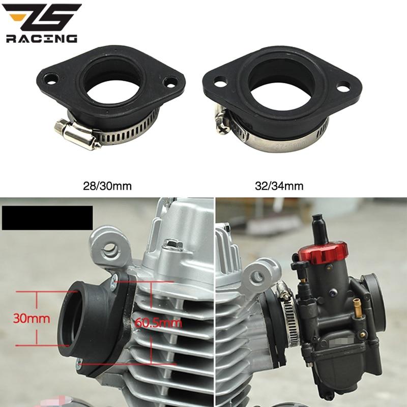 ZS Racing Motorcycle Carburetor Rubber Adapter Inlet Intake Pipe For MIKUNI VM24 OKO KOSO KEIHIN PE28 21/24/26/28/30/32/34mm