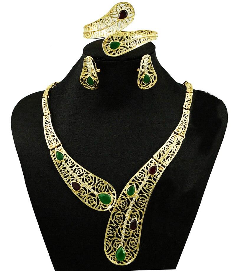 colour stone fine jewelry sets18k gold fine jewelry sets big jewelry sets wedding jewelry sets women necklace