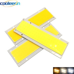 COOLEEON 140*50mm 12V 20W LED COB Bulb Chip On Board 14cm Panel Lights LED Matrix Lighting Source for DIY Car Home Lamps DC12V