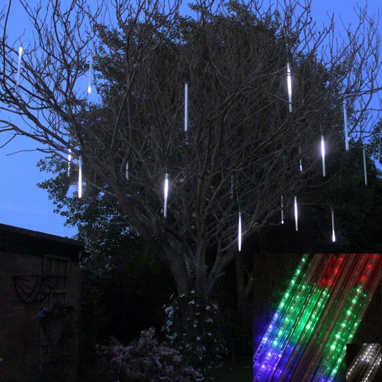 Ledsmith nuevo 50cm lluvia de meteoros tubos de lluvia guirnaldas navideñas de luces decoración del árbol lámpara Led 100-240V enchufe EU US Luz de vacaciones