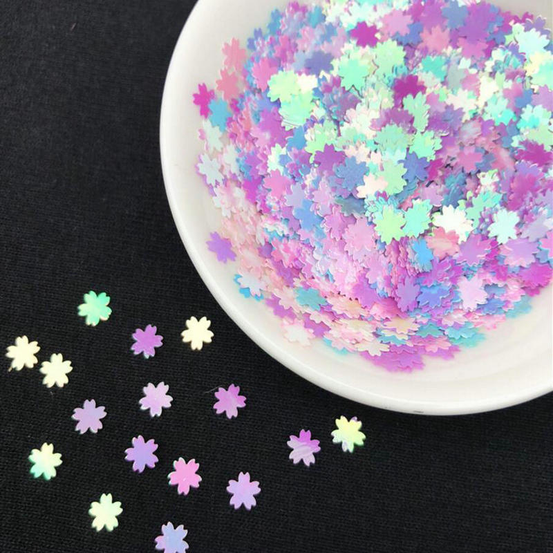 10g Rosa Sakura Glitter Pailletten Konfetti DIY Handwerk Zeug 5mm Süße Blau Kirschblüte UV Harz Decor Schmuck füllung Pailletten