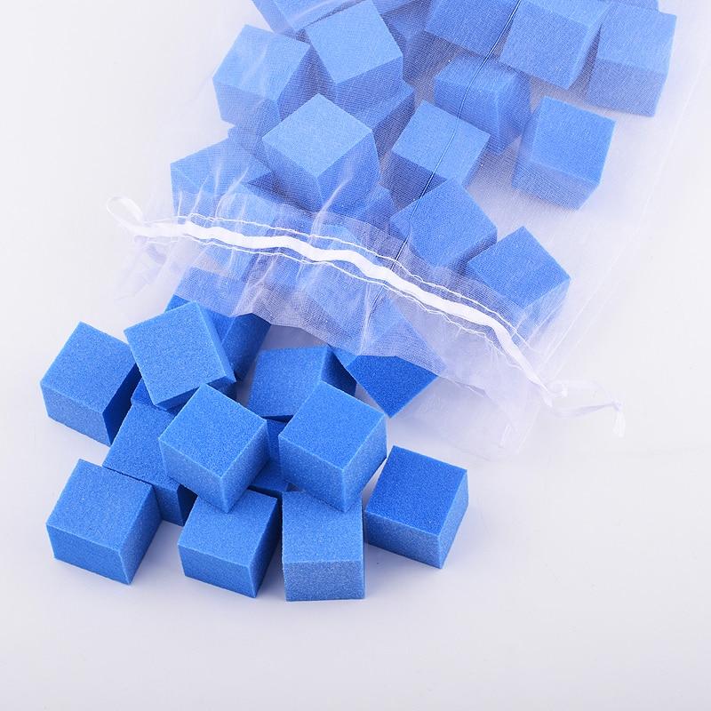 20 pcs/lot lime à ongles bleue 2.5*2.5*2.5 cm Mini ongles ponçage éponge blocs vernis à ongles pédicure manucure Set de soins