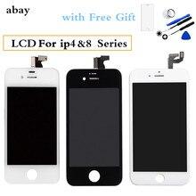 A + + + para el iPhone 8 Plus de Pantalla LCD 4S 4 GSM CDMA LCD montaje de Pantalla táctil LCD Pantalla + vidrio templado + herramientas