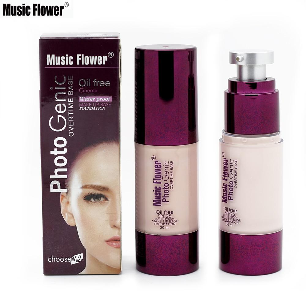 Marca flor nova 30 ml fundação líquido maquiagem corretivo à prova dwaterproof água fundação compõem base creme facial cosméticos spf25