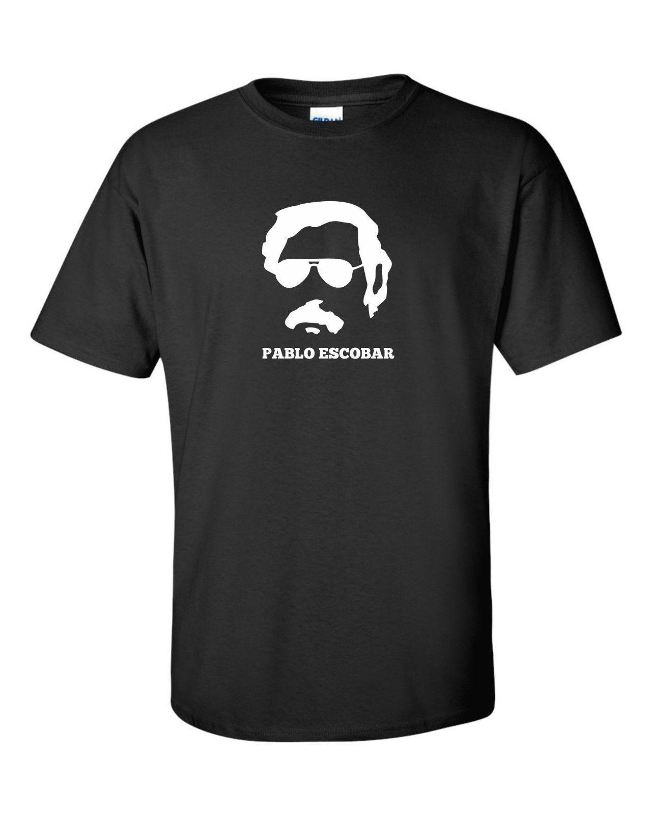 PABLO ESCOBAR engraçado mens camiseta Colombia medellín criminal drogas coca orgulho t shirt dos homens Casual Cool Unisex Novo
