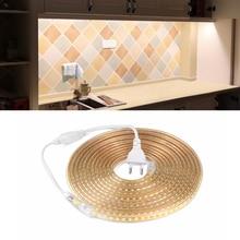 220V LED Strip light 2835 SMD Waterproof RGB LED Tape Diode Ribbon 5M 10M 15M 20M 25M DIY Garland Backlight Kitchen Cabinet lamp