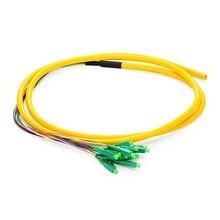 QIALAN 1.5 m (5ft) 12 Fibers LC/APC 9/125 monomode Fiber optique tresse-0.9mm PVC veste