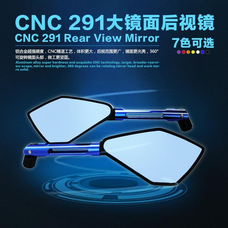 Espejo de retrovisor CNC genuino modificado para motocicleta para coche deportivo Yamaha RIZOMA espejo de aleación de aluminio espejo invertido