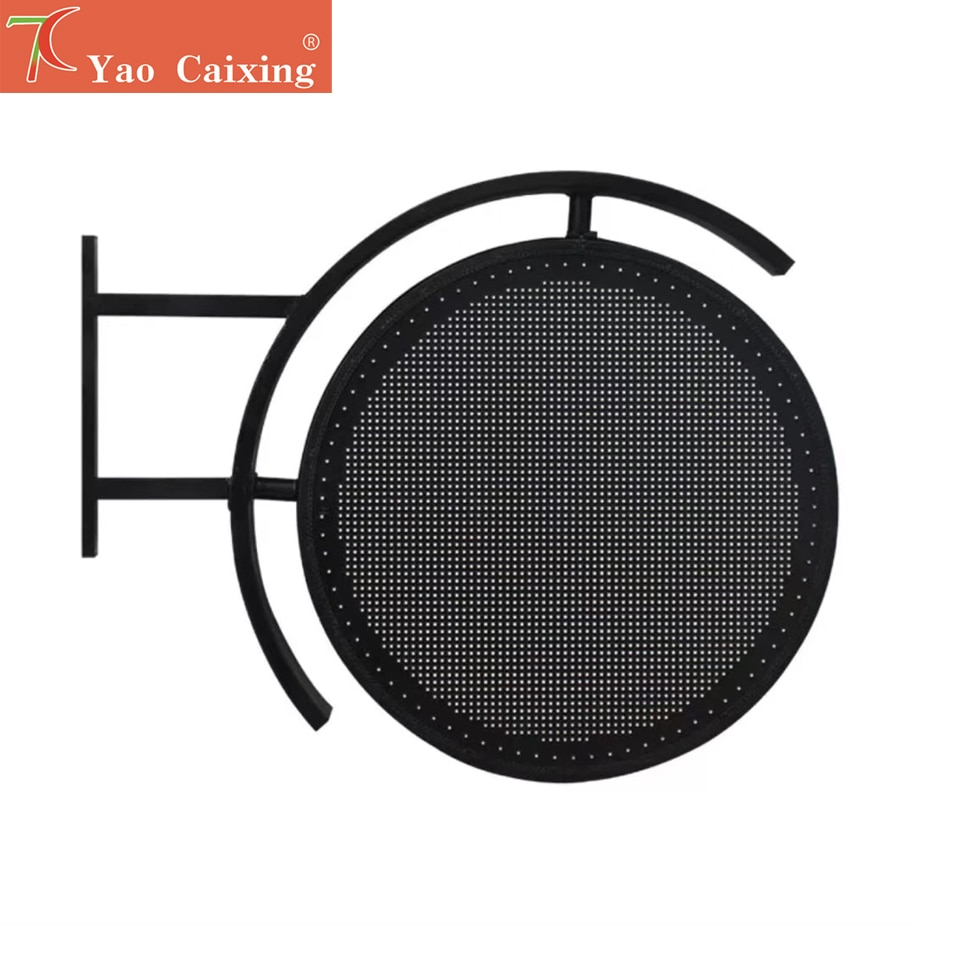 Shipping free two sides led circle logo screen outdoor waterproof xxx led sign board