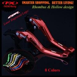 Nova 3D Rhombus Oco Projeto da patente Para Honda CBR1100XX/BLACKBIRD 1997-2007 2005 2006 Red Motocicleta CNC Freio alavancas de embreagem