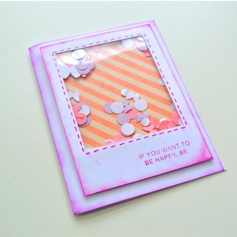50pcs/Lot 4 x 6 inch PVC Plastic Sheet for DIY Scrapbooking Handmade Shaker Cards Album Photo Frame Clear Transparent Cover