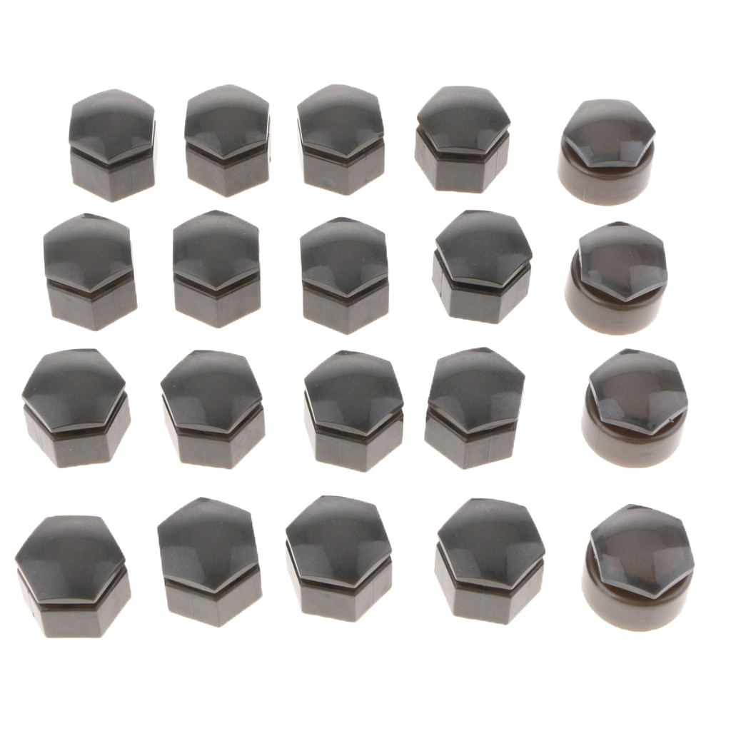 20 Pieces 19mm Plastic Car Wheel Nut Screw Cover Rims Bolt Cap Protection Dust Proof for Audi Q7