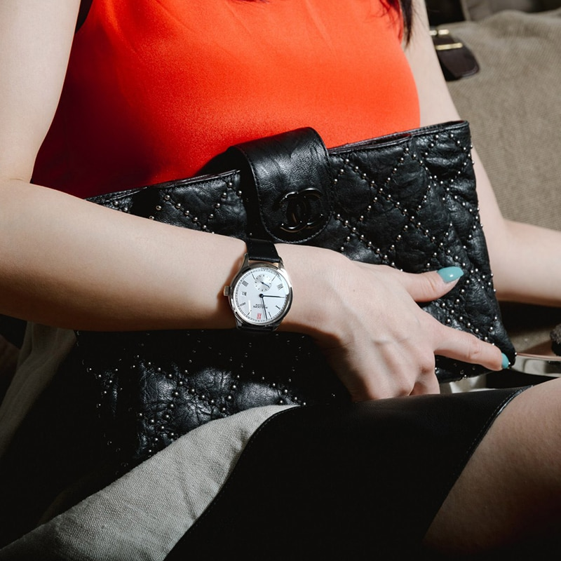 AGELOCER Women Original Swiss Automatic Watch Dress Ladies Business Fashion Black Genuine Leather Watches Clock Relojes Mujer enlarge