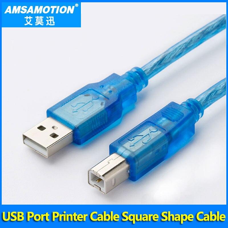PLC Omron Cable de impresora USB Cable de puerto USB 2,0 Cable Omron CP1H Cable 2M de longitud