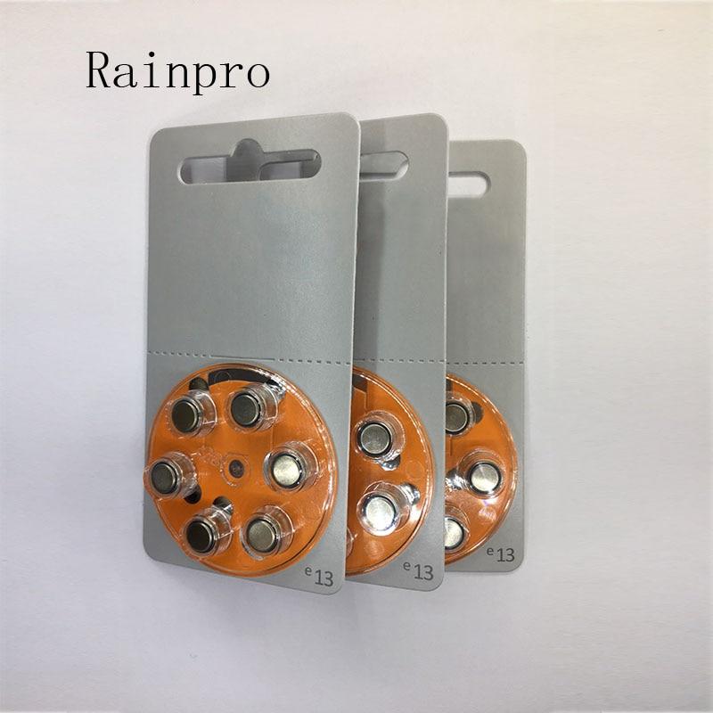 Батареи для слухового аппарата Rainpro, 60 шт./лот (10 упаковок), A13 13A e13 ZA13 13 PR48, аккумулятор двигателя, лучшее качество