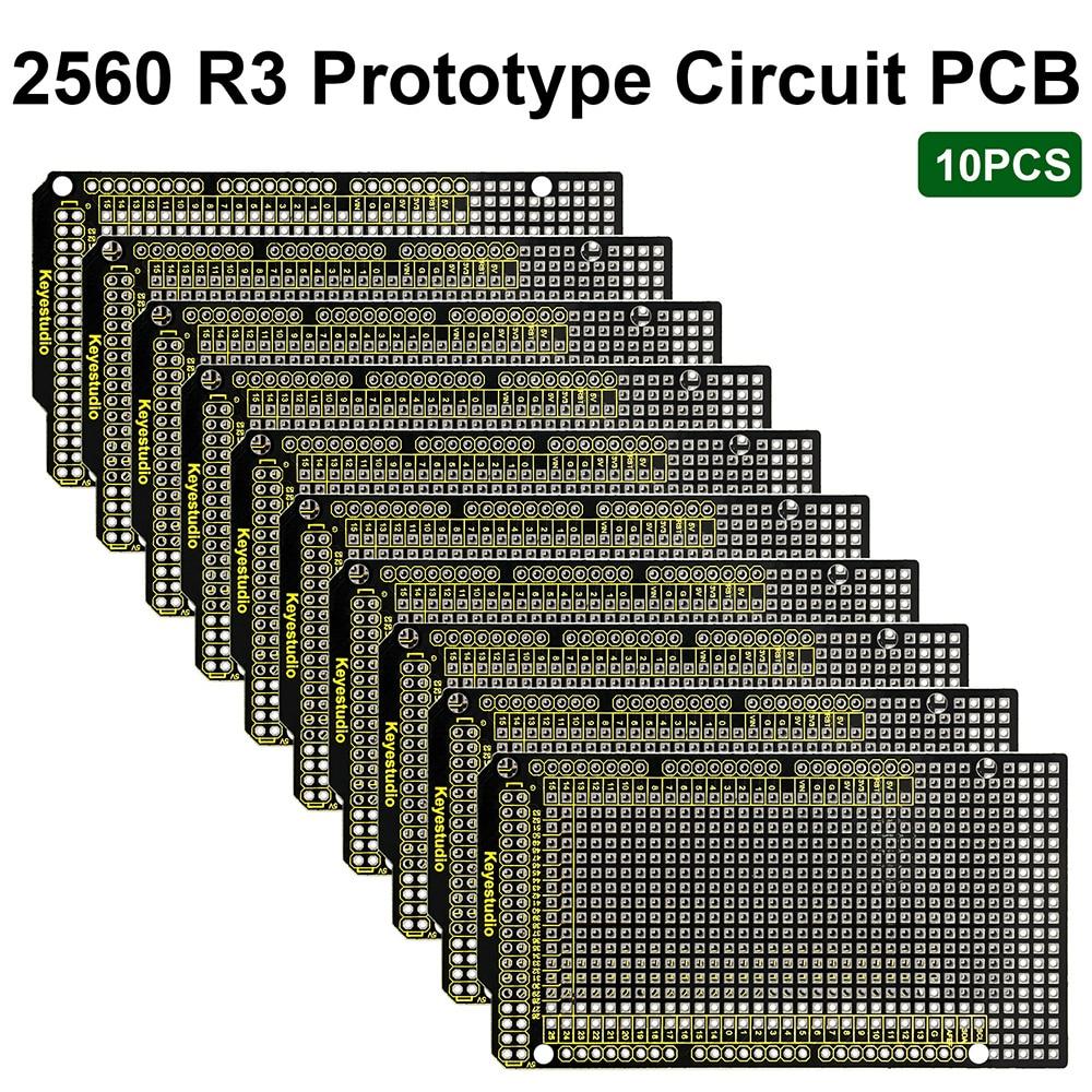 10PCS Keyestudio אב טיפוס PCB עבור Arduino מגה 2560 R3 מגן לוח DIY FR-4 לסביבה ידידותי