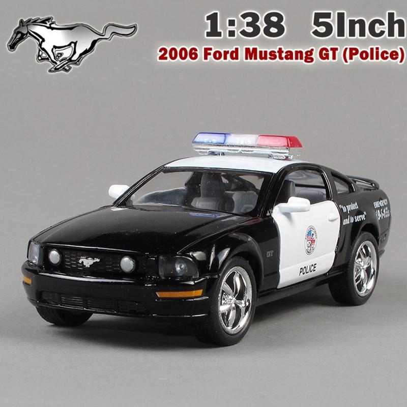 KiNSMART 138 2006 Mustang GT juguetes policiales coche aleación Diecast modelo coche vehículo juguete colección regalo para niños