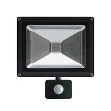 PIR Motion Sensor 10W 20W 30W 50W UV LED Black Light Flood Light AC85-265V Outdoor Stage Light for Blacklight Parties DJ Disco