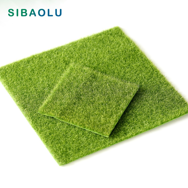 Artificial Green Grass 30cm Square Shape Simulation Plant Model home miniature fairy garden decoration accessories toys