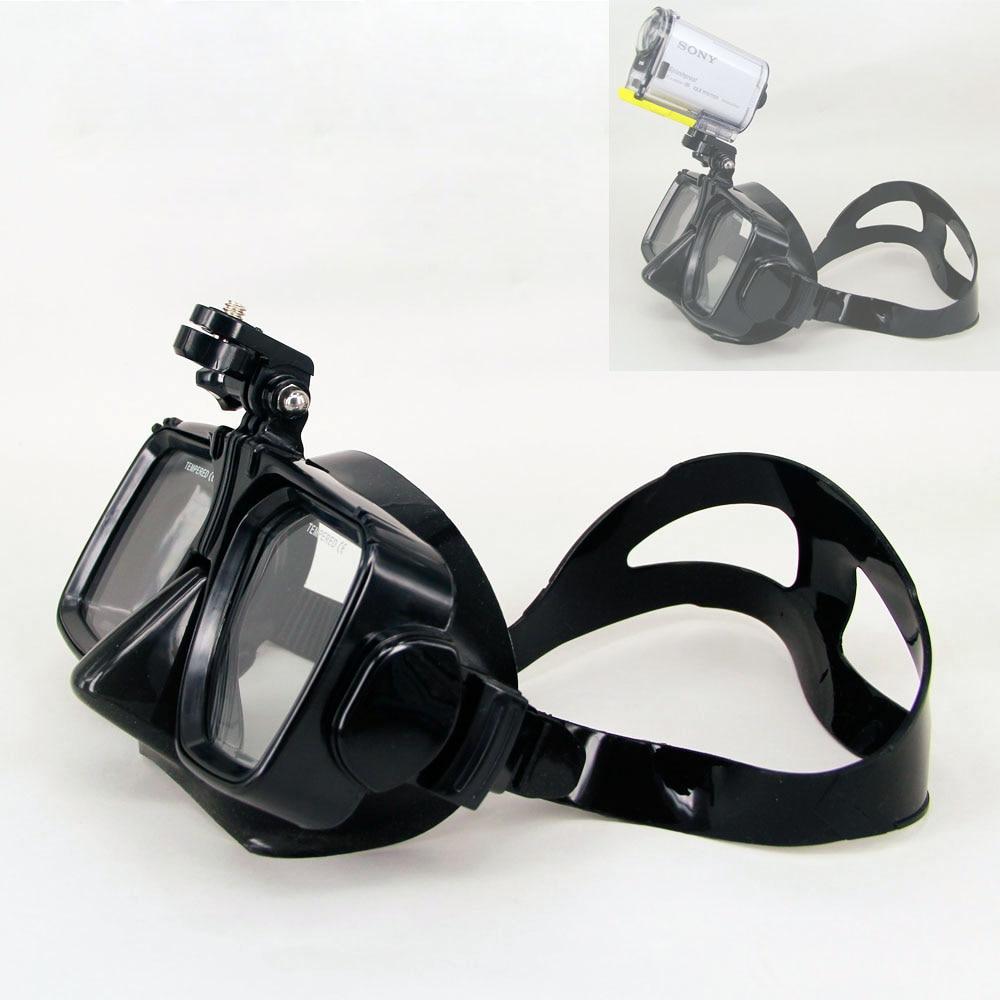 Маска для ныряния с аквалангом, маска для плавания, закаленное стекло для Sony HDR-AS200V AS300R AS100V, Спортивная экшн-камера для FDR-X3000R
