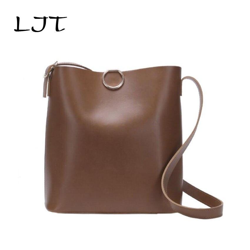 LJT High Quality Women PU Leather Handbags  2019  Women Bag 2PCS Handbags Set Female Shoulder Bags Large Casual Tote Bags
