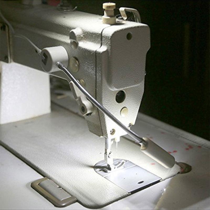 Lámparas LED multiusos de escritorio para máquinas de coser, tornos, prensas de taladro, brazo de cuello de cisne Flexible de montaje magnético seguro