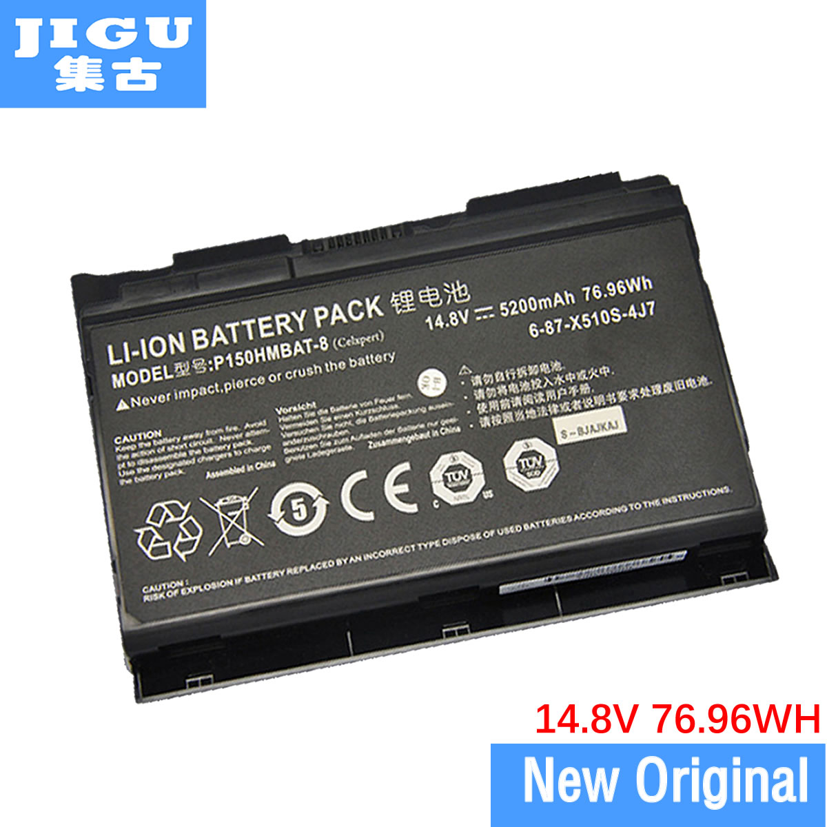 JIGU 14,8 V 76.96WH 6-87-X510S-4D7 6-87-X510S-4J7 Original Tablet batería para CLEVO P150 P150EM P170HM3 P170HM X511 serie