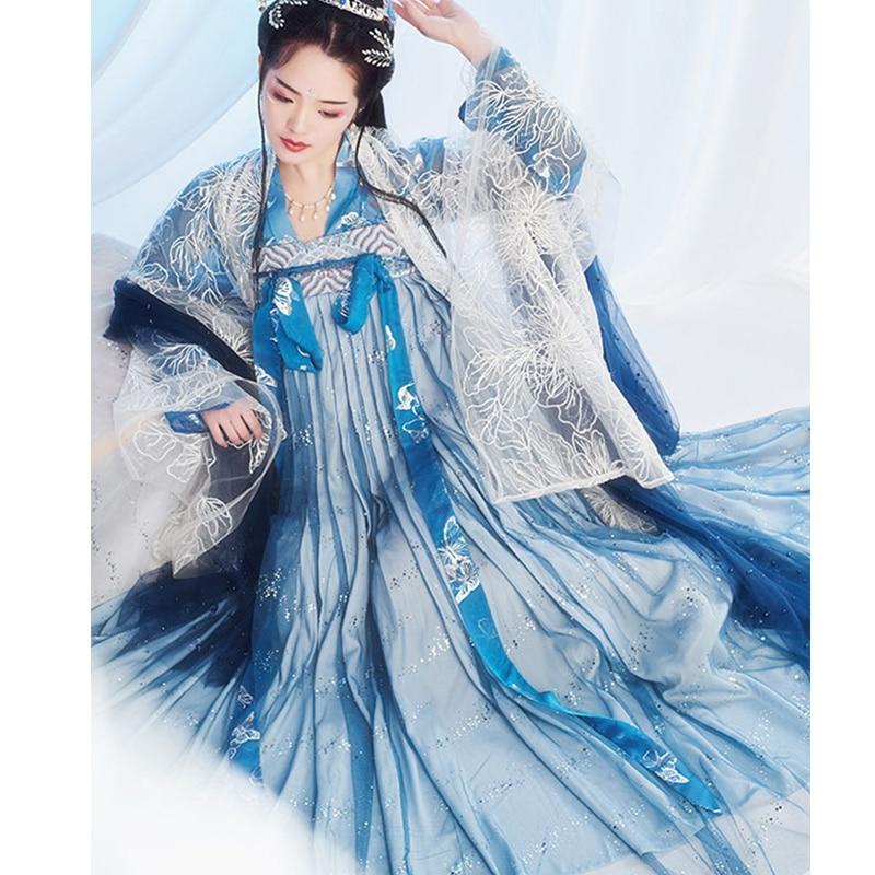 Nuevo vestido Hanfu chino para mujer, vestido tradicional Hanfu femenino china antigua disfraz de hada princesa chica traje Tang SL007