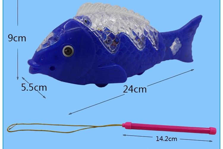 Juguetes luminosos/Música de emisión de luz pez oscilante eléctrico/pez fundido/luz colorida/juguetes para bebés para niños/Juguete/mejor regalo