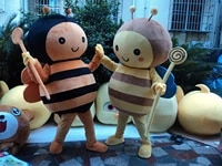 bee mascot costume adult character costume cosplay for halloween party
