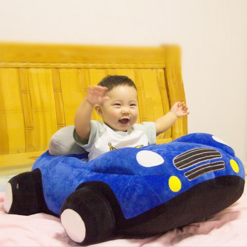 Asientos en forma de coche para bebé, asientos para sofá, juguetes para asiento de coche, asiento para bebé de felpa sin relleno, niños aprendiendo a sentarse, silla de entrenamiento, Funda de cuero