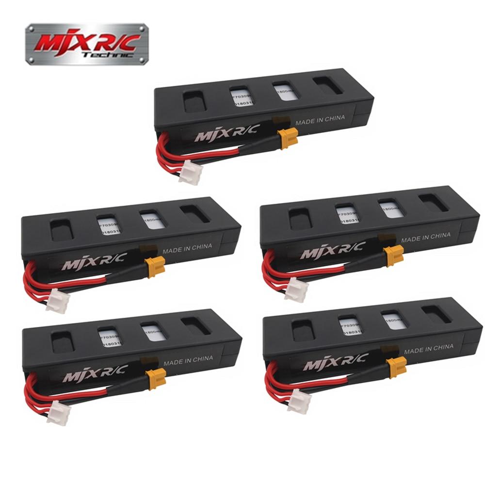 Original 5 pces 7.4 v 1800 mah 25c li-po bateria para mjx b3 rc quadcopter zangão (mjx bugs 3 bateria) peças de reposição acessórios