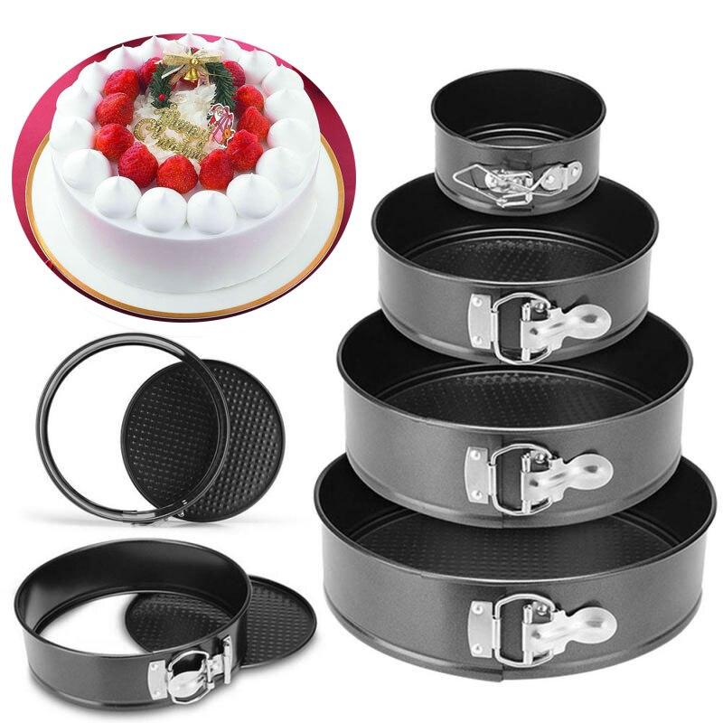 Hornear sartenes herramienta para tartas de cocina molde de pastel de metal redondo para hornear plato para hornear no-stick accesorios de cocina, molde Gadget envío de la gota
