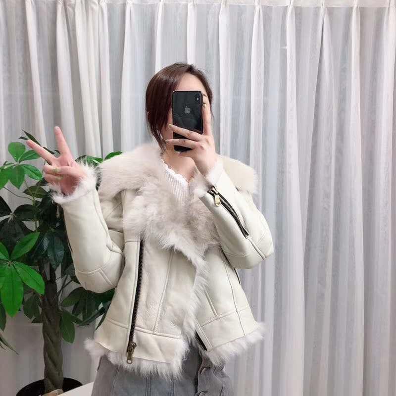 Invierno tops y blusas para mujer 2019 de lujo natural abrigo de piel de oveja parka real Piel de cuero genuino chaqueta toscana de la piel de lana