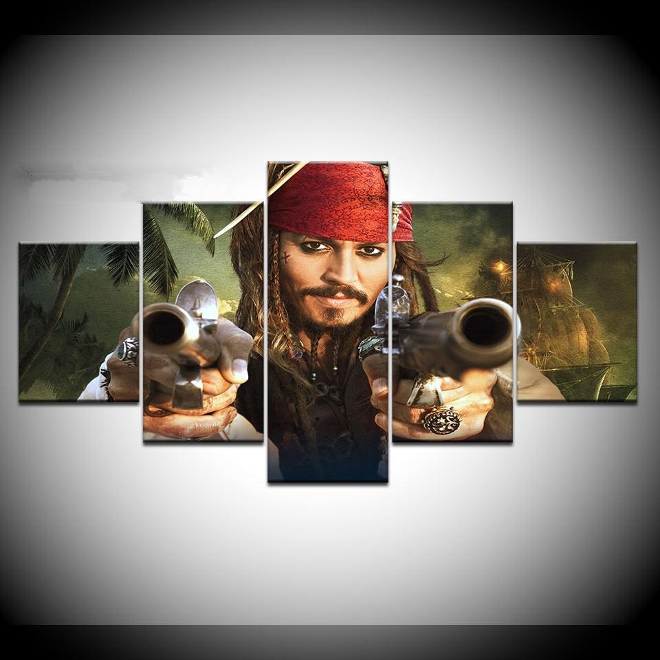 Peças de Arte de Parede Poster do Filme Piratas do Caribe 5 HD Impressão Pintura Da Lona Moderna Imagem Home Decor para Sala de estar sala de Arte