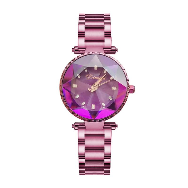 Luxury Brand Ladies Crystal Watch Women Dress Watches Fashion Rose Gold Quartz Watches Female Stainless Steel Wristwatches