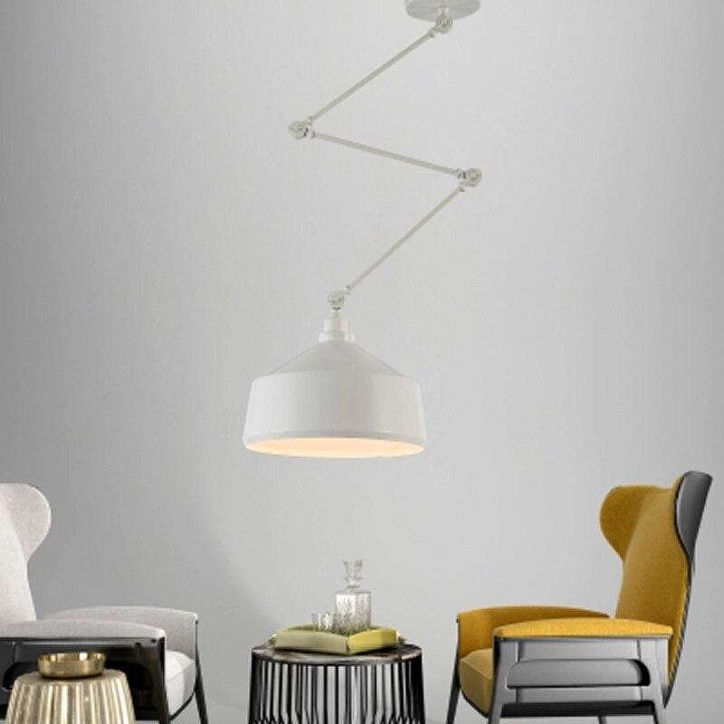 Современный минималистичный подвесной светильник из кованого железа скандинавский телескопический складной прикроватный креативный рег...