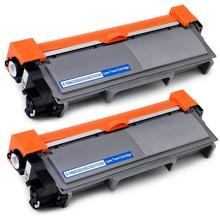 Pack de 2 cartucho de tóner Compatible para hermano HL-L2300D L2365DW TN660 TN630 TN2320 TN2310 TN2375 TN2335 TN2350 TN2330