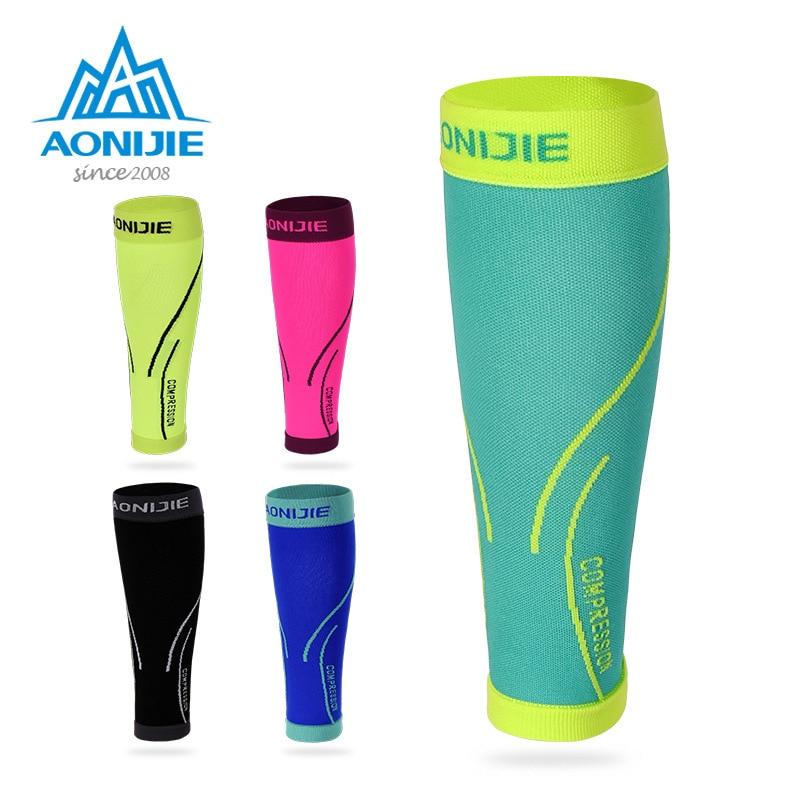 AONIJIE 1 par de compresión deportiva funda de pantorrilla protección de seguridad transpirable cálido Leggings Running