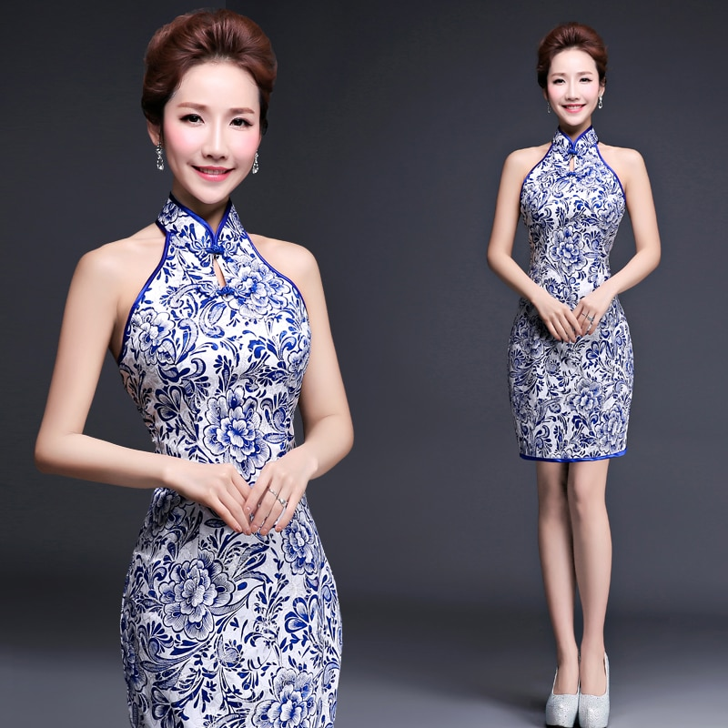New fashionable summer dress Chinese Tang suit casual short vintage traditional cheongsam