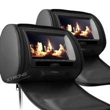 2 pcs Monitoren 7 inch Zwart Crème Grey Kleur Digitale Screen rits Auto Hoofdsteun Dvd-speler USB FM Game Disc afstandsbediening