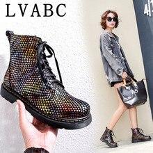 Liquidation vente LVABC bottines pour femmes en cuir véritable talon haut rond tête dorteil mode chaussons femmes chaussures dames bottes