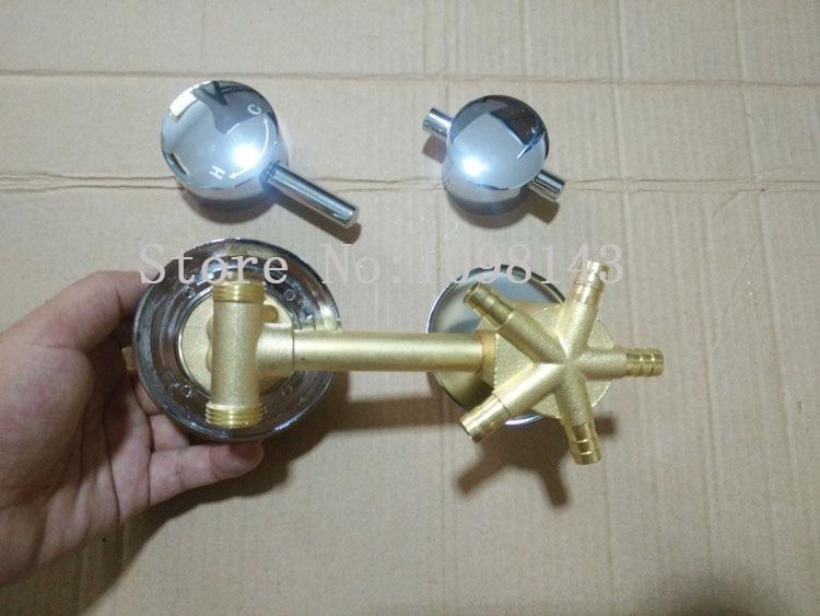 Mezclador de grifo de ducha de 5 maneras, grifo de ducha de 2/3/4/5 maneras grifo de ducha válvula mezcladora agua caliente fría, juego de grifería de ducha de pared