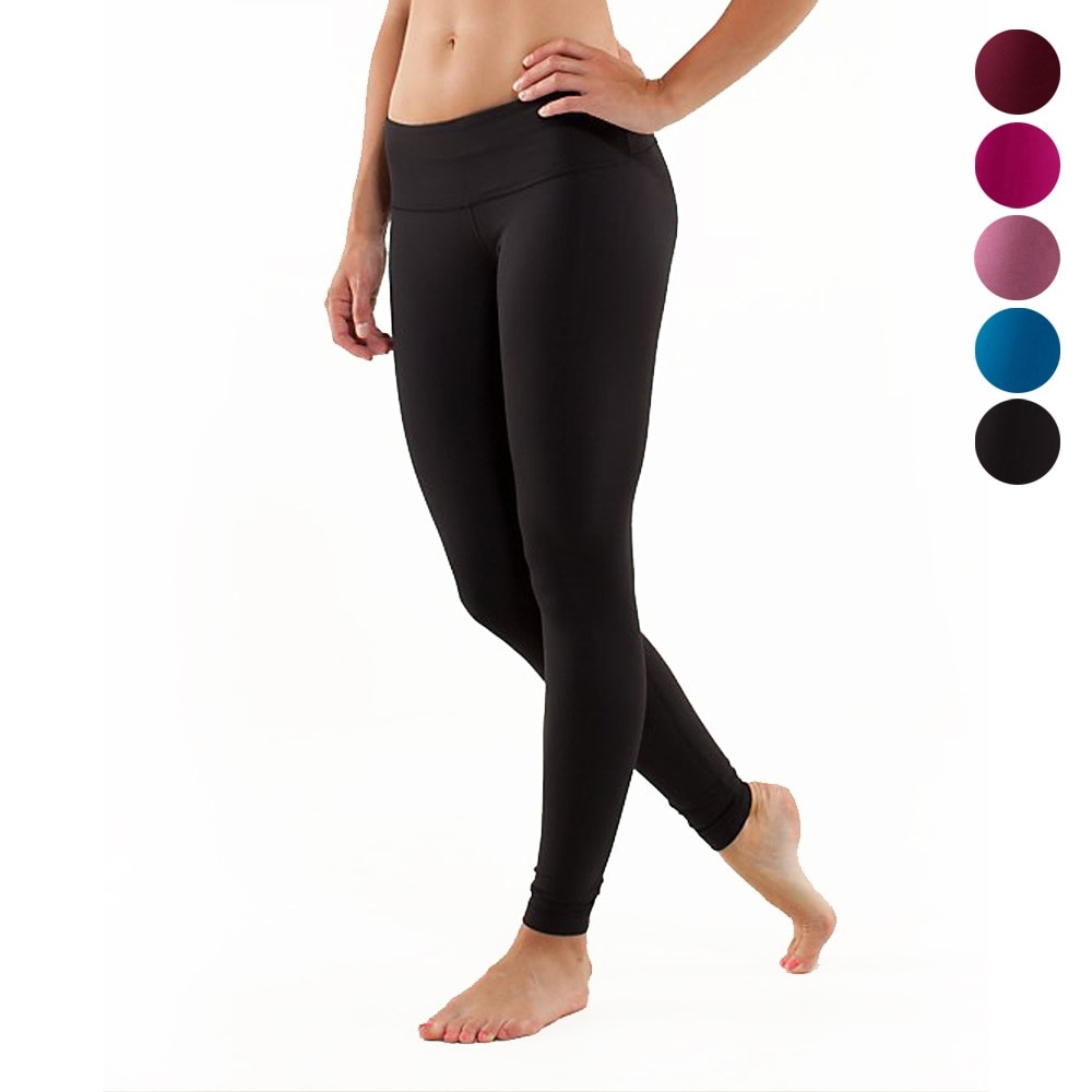 JIGERJOGER 2017 invierno grueso color sólido alto negro deportes leggings running jeggings pilate fitness slim stretch Yoga Pantalones