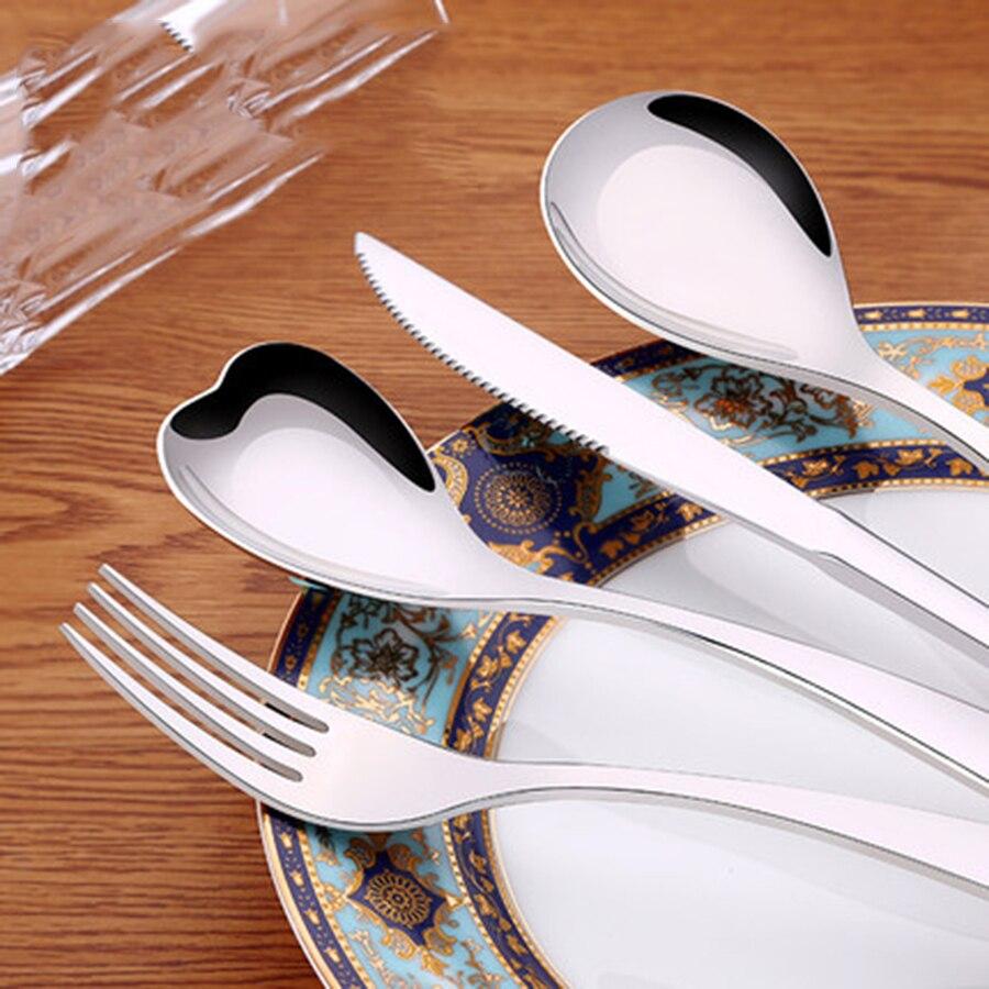 Гостиничные стальные столовые приборы из нержавеющей стали, посуда для стейка, нож, вилка, столовые приборы, набор для путешествий, посуда д...