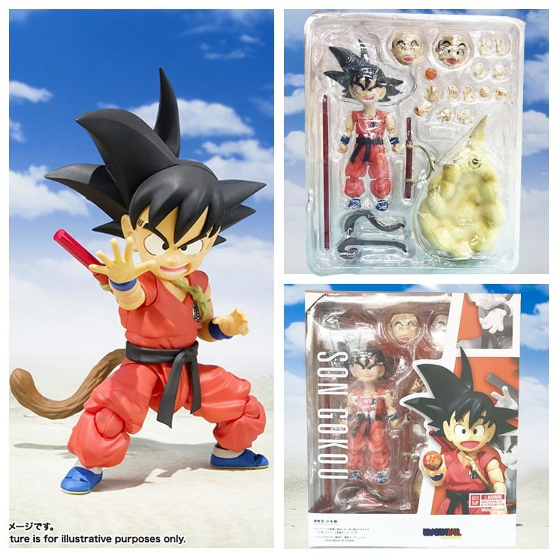 SHF Dragon Ball Z Super Saiyan Son Gokou Goku Childhood Version PVC Action Figure Collectible Model Toy
