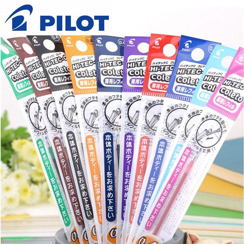 15 шт./лот Pilot LHKRF-10C4 Hi-Tec-C Coleto гель мульти ручка пополнения-0,4 мм черный/синий/красный/15 видов цветов в наличии
