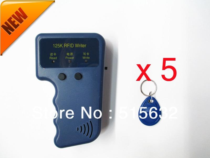 Handheld RFID 125Khz RFID Copier / ID Card Copy writer + 5 RFID keychains