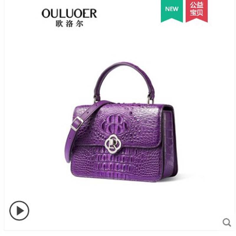 Ouluoer-حقيبة كتف نسائية من جلد التمساح ، حقيبة كتف نسائية ، حقيبة صغيرة مربعة ، مجموعة جديدة 2019