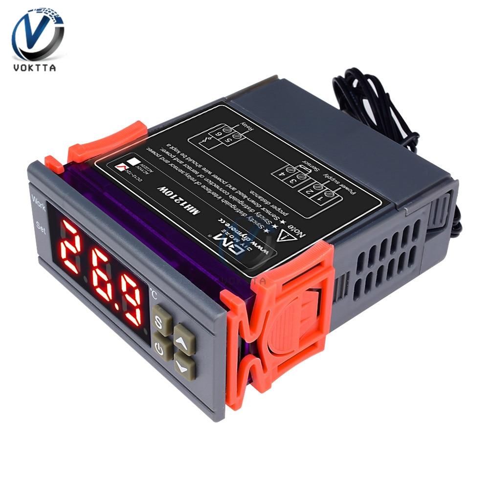 MH1210W DC 9-72V AC90-250V דיגיטלי טמפרטורת בקר חממת טרמוסטט רגולטור בקרת-50 ~ 110 תואר חיישן pyrometer